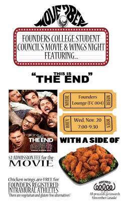 Movember Movie Night (This is the End) 2013