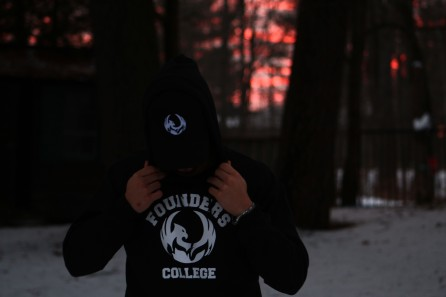 Founders College Hoodie and Cap